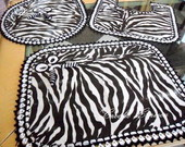 CONJUNTO BANHEIRO- ANIMAL PRINT