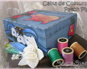 ♥ Caixa de Costura - Patch Pig