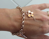 PULSEIRA METAL NIQUELADO ROSE GOLD