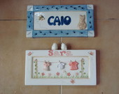 PLACA INFANTIL PERSONALIZADA