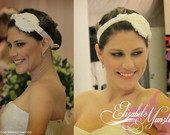 PRONTA ENTREGA Headband Vintage Bordado