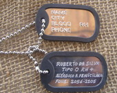DOG TAG / PLACA DE IDENTIFICA��O