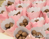 Cones para chocolate com borboleta