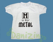 T-Shirt Beb e Infantil M IS FOR METAL