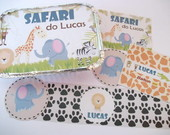 Rtulos personalizados Safari/Floresta