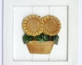 QUADRO PTINA RUSTICO - GIRASOL