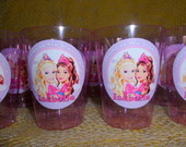 Copo personalizado Barbie/CasteloDiamant
