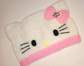 touca baby Hello Kitty rosa bebe