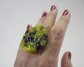 MAXI Anel -Vidro / Glass Ring OVERSIZED