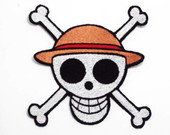 One Piece Patch Bordado Termocolante