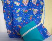 Bolsas e eco-bags de tecido.