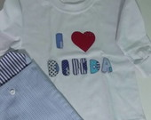 Camiseta Customizada I LOVE DINDA