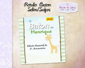 R�tulo para Chocolate Baton Selva/Safari