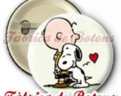 BOTON  2,5cm CHARLIES BROWN E SNOOPY