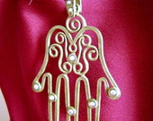 Grande Hamsa ouro velho strass