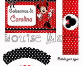 Kit Festa Digital Minnie - 30 convidados