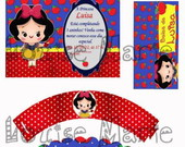 Kit Festa Digital Branca de Neve
