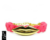 Pulseira Kiss me _coral