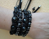 MIX PRETO/ STRASS E CRISTAIS THECOS
