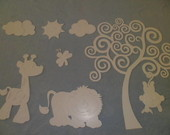 PAINEL EM MDF SELVA - BORDER SAFARI
