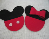 Convite Minie e Mickey em EVA