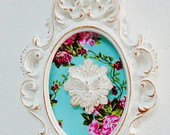 QUADRO DIVINO RESPLENDOR TURQUESA FLORAL