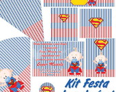 Kit para imprimir - Super Man Baby