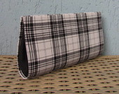 Clutch Xadrez P & B - Frete Grtis