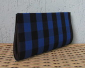 Clutch Xadrez Azul Royal