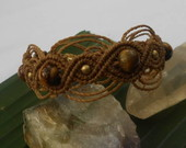 Pulseira Macrame Olho de Tigre 25% OFF