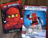 Ninjago Convite