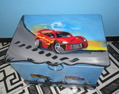 Ba� com o tema Hot Wheels