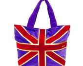 Bolsa Plush Roxa Bandeira-0205004