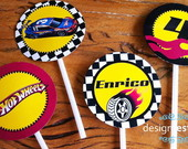 Tags Para Cupcake Festa Hot Wheels