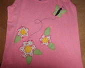 Camiseta patch aplique com flores