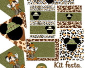 Kit para imprimir - Mickey Safari