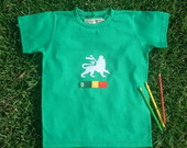 Camiseta Reggae Lion Infantil VERDE