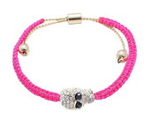 PULSEIRA PINK DE CAVEIRINHA COM STRASS.