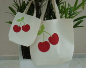 kit eco bag - m�e e filha - cherry