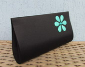 Clutch Flor Turquesa