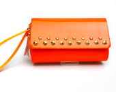 Bolsa De Mo Neon Laranja Com Spikes