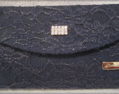 Clutch Renda Azul