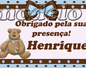 Tags de agradecimento 3x5 cm
