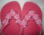 HAVAIANAS TOP ROSA CHOQUE 5 FLORES + EMB