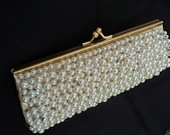 Clutch prolas e strass