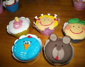 Cup cakes decorados