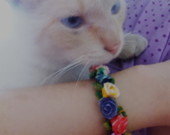 Pulseira  Rosinhas   ^^