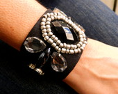 Maxi Bracelete - Preto e Prata