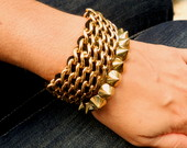 Kit Pulseiras Spike e Bracelete Corrente