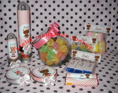 Kits personalizados marrom com  rosa